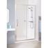 Lakes White Semi Framed Slider Minimalist Shower Door