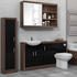 Lucido 1500 Fitted Bathroom Furniture Suite Pack Black High Quality