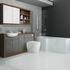 Lucido L Shape 1500 Furniture Suite Grey Shower Bathroom Fashionable
