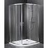 Reduced Height Quadrent Enclosure Silver Designer Bathroom