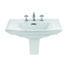 Radcliffe Large Basin 685mm Black With Large Semi Pedestal Straight Shape High Quality Bathroom Washbasin