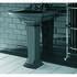 Radcliffe Large Basin 685mm Black With Pedestal Straight Stylish Bathroom Washbasin Design