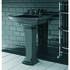Radcliffe Traditional Ceramic Medium Basin 600mm Black With Pedestal