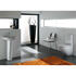 White basin with one tap hole included with a pedestal , pan , cistern and seat