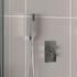 Chrome finish square shower handset