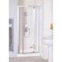 Shower Cubicle White Semi Framed Pivot Door 700  Bathroom