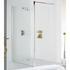Silver Semi Framed Shower Screen for Wet Room