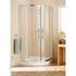 Silver Semi Framed Single Rail Quadrant Amazing Value Stylish Bathroom Accessory