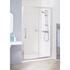 Silver Semi Framed Slider Door 1200 X 1850 Enclosure Contemporary Bathroom