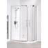 Space Saver 900x800x1750 Offset Quadrant Enclosure Silver Modern