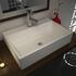 Tanke Porcelain Wash Basin Straight Stylish Counter Top Unique Design Bathroom Accessory