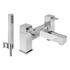 sheek CHROME standard bath mixer tap with shower attachement lever Handle