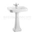 straight Victorian Basin 61cm and Pedestal option of 1,2,3 tap hole