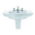 Westminster Medium Basin 600mm With Medium Semi Pedestal straight High Quality