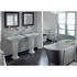 Imperial's medium basin and pedestal in a arctic white finish complete room set view