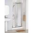 White Framed Bi-fold Door 700 Enclosure Luxurious Stylish Bathroom Accessory