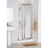 White Framed Bi-fold Door 750 X 1850 Enclosure Luxurious Stylish Bathroom Accessory