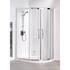 White Semi Framed Quadrant Shower Cubicle Ellegant Bathroom