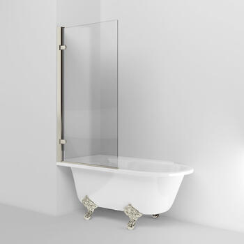 Arcade Hinged Modern Single Square Bath Screen