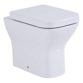 Megan Contemporary Style White Back To Wall Pan and Soft Close Seat