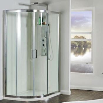 Spirit 8mm 1200 X 900 Off Set Quadrent Shower Enclosure Inc Tray - 10129