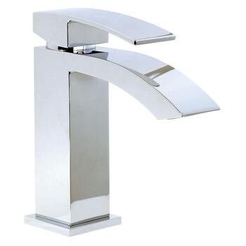 Modern luxurious CHROME standard Basin tap With a lever Handle