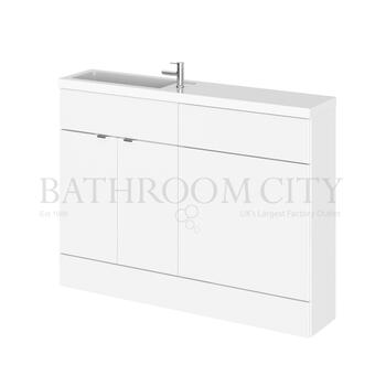 Compact combination unit reduced deapth for a small bathroom