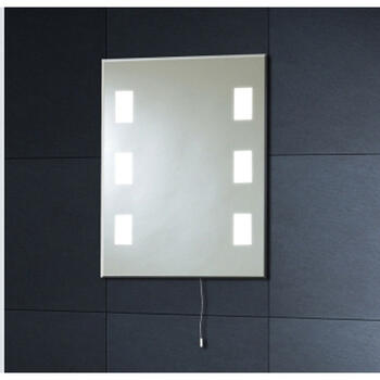 Mi008 50x39 Back Lit Mirror 6 Square - 1228