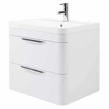 Parade 800 Wall Hung 2 Drawer Basin & Cabinet straight Wall Hung High Quality and Stylish Bathroom Accessory