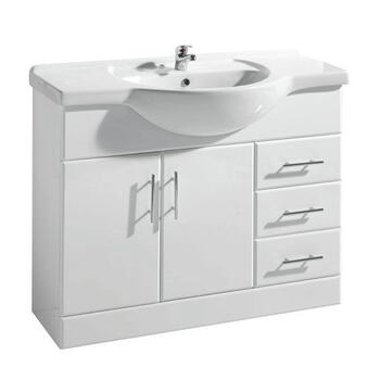 New Ecco 1050 Basin Unit curved Fashionable and Stylish Bathroom Accessory