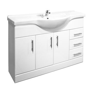 New Ecco 1200 Basin Unit curved Designer Bathroom