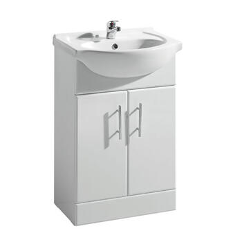 New Ecco 550 Basin Unit curved Unique Design Bathroom and Cloakroom