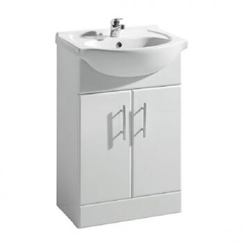 New Ecco 650 Basin Unit curved Modern and Stylish Bathroom Accessory
