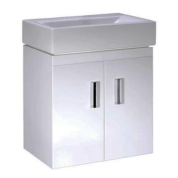 Checkers White 450 Wall Mounted Basin Unit straight Wall Hung Amazing Value and Stylish Bathroom Accessory