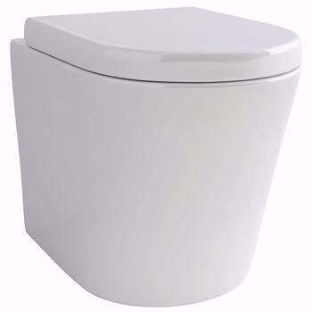 Arco Back To Wall WC with Fixings and Soft Close Seat Curved High Quality Bathroom Toilet