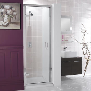 Bc Class Silver Hinged Shower Door - 14667