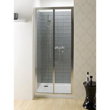 Bc Eboney Silver Bifold Shower Door - 14669