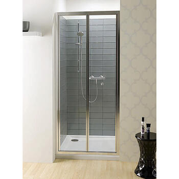 Bc Eboney Silver Bifold Shower Door Contemporary Bathroom