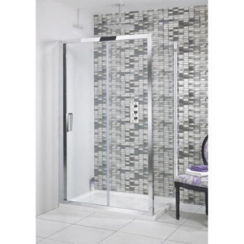 Bc Ellie Single Slider Shower Door Fashionable Bathroom