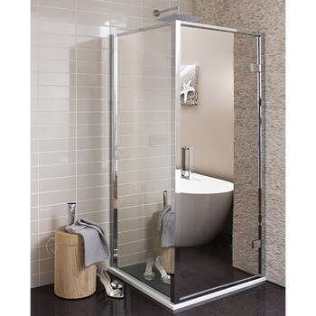 Bc Reflect Mirror Hinged Shower Door polished Chrome - 14674