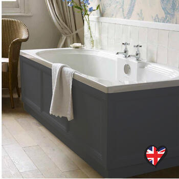 Insolito Carolla Bath End Panel Charcoal Grey for High Quality Bathroom