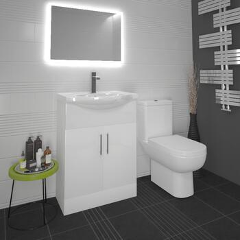 Ecco 65 Suite Unit And Basin, Close Coupled Toilet - 14703