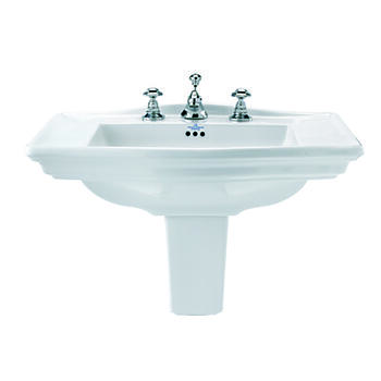 Westminster Medium Basin 600mm With Medium Semi Pedestal straight High Quality