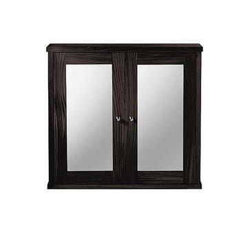 Linea Mirror Wall Cabinet With 2 Wood/Mirror Glass Doors  double