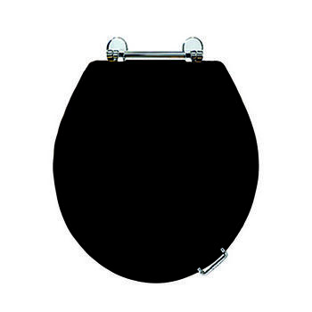 Oval Toilet Seat Chrome With Standard Hinge Supplied With Lift Handle