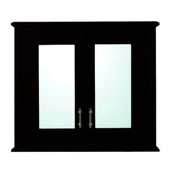 Thurlestone Wall Cabinet With 2 Doors Wood/Mirror Glass Doors - 14840