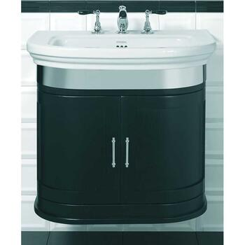 Carlyon Large Basin 715mm With Thurlestone Wall Hung Vanity Unit Wenge curved Wall Hung Modern