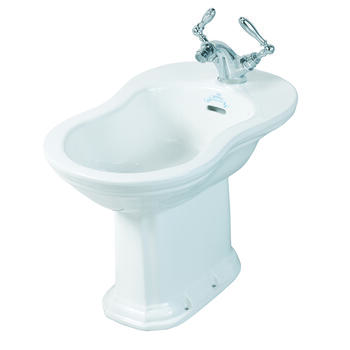 Oxford Curved Bathroom Design White Bidet With 1 Tap Hole