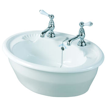 Oxford Inset Basin 545mm White - 14945