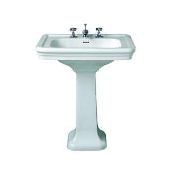 Etoile Large Basin 700mm White With Pedestal White - 14997